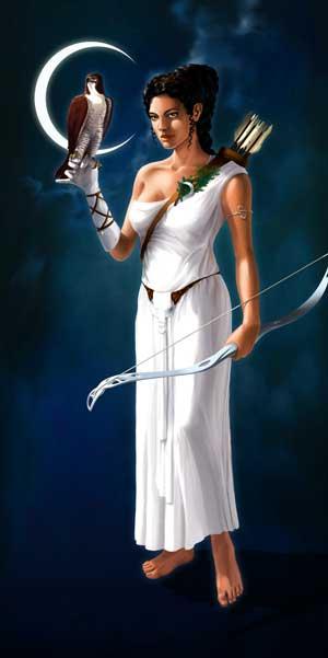 Arthémis, déesse de la chasse sur Grepolis
